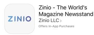 Zinio digital magazine