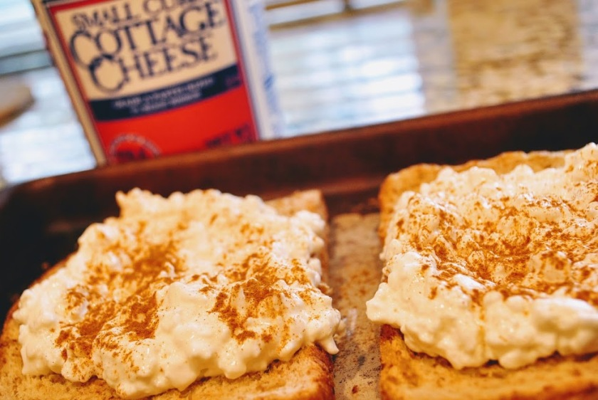 cottage cheese toast high protein breakfast