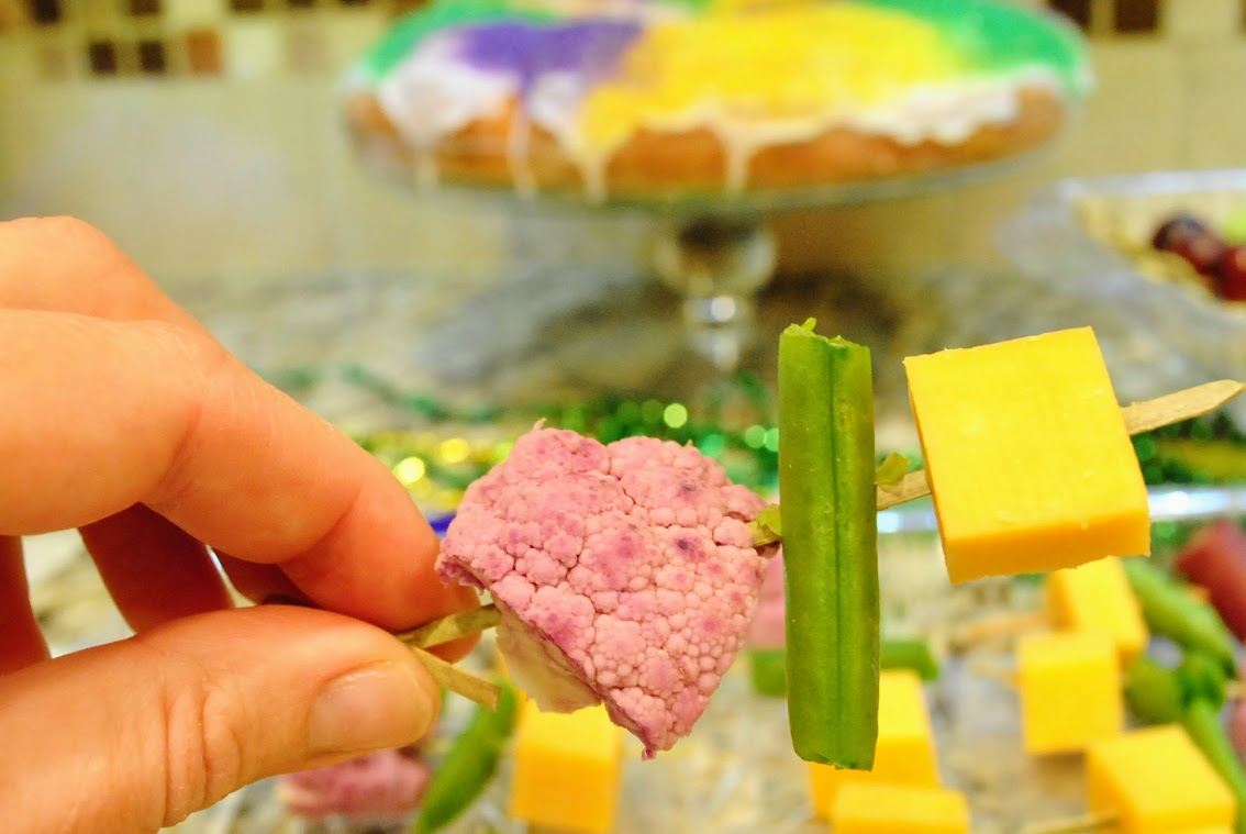 healthy Mardi Gras Party food with Tillamook Cheddar Cheese