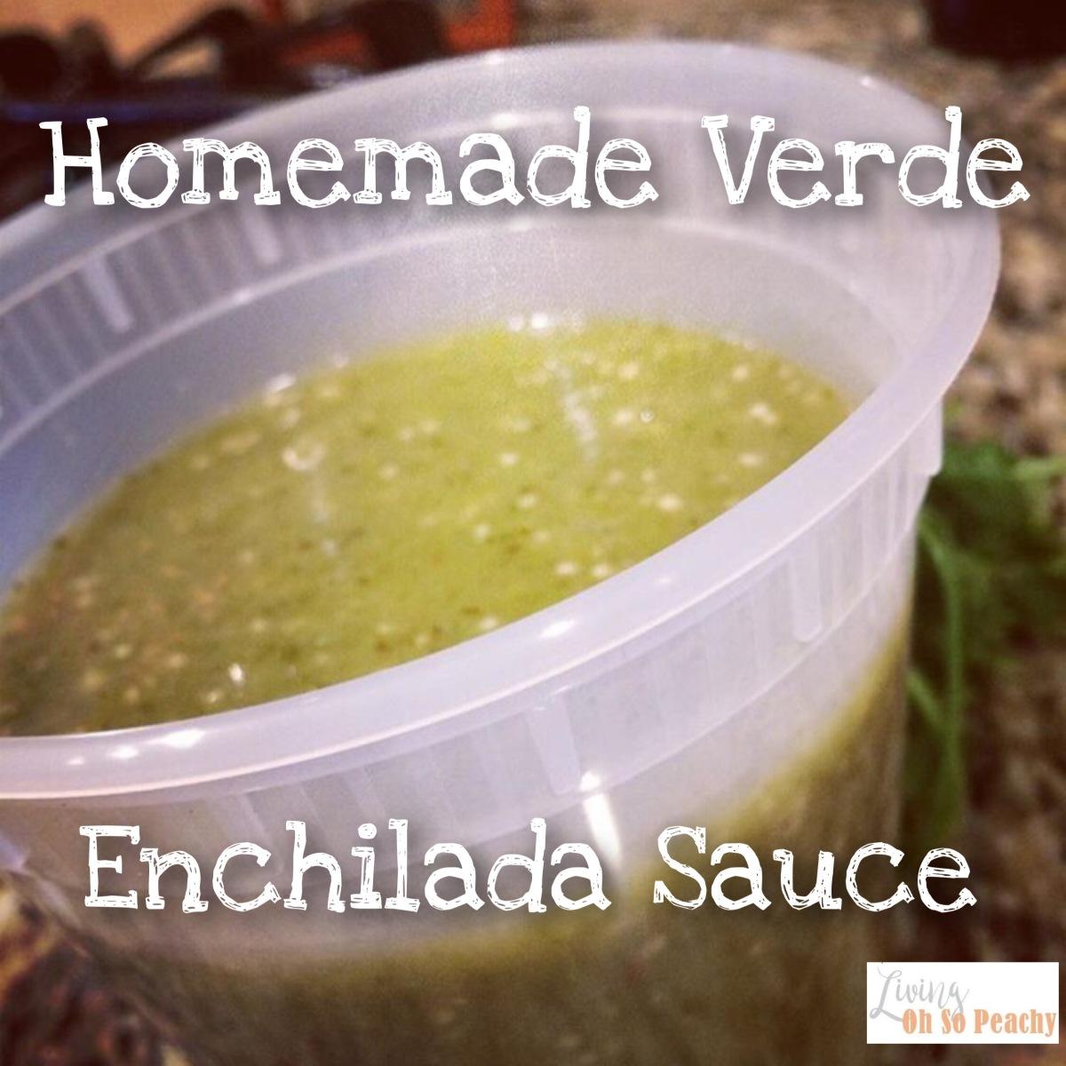 Homemade Verde EnchiladaSauce