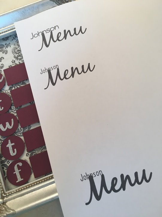 Find fonts the compliment each other for the Menu title