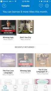 Hoopla app audio books