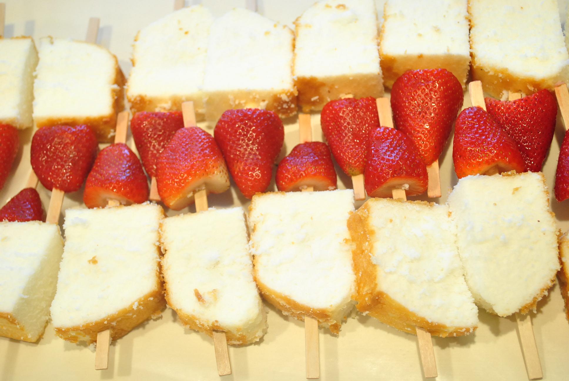 Valentine strawberry skewers