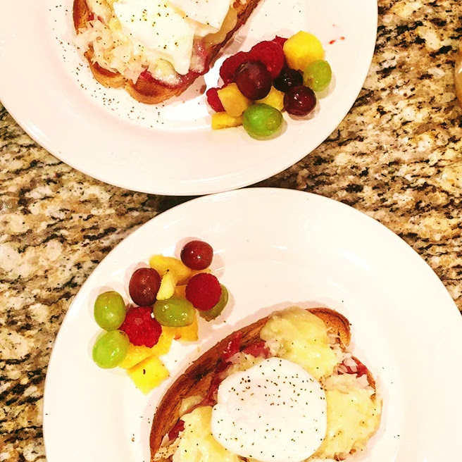 High protein breakfast reuben