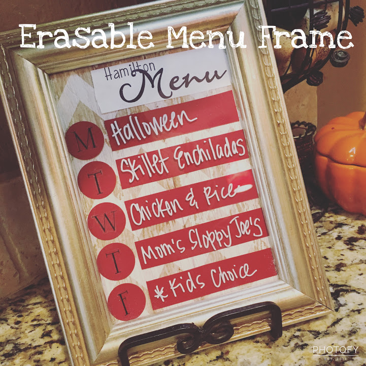 Erasable Menu FrameCraft