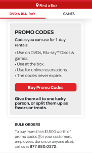 Red box promo codes