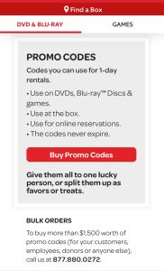 Red box promo codes