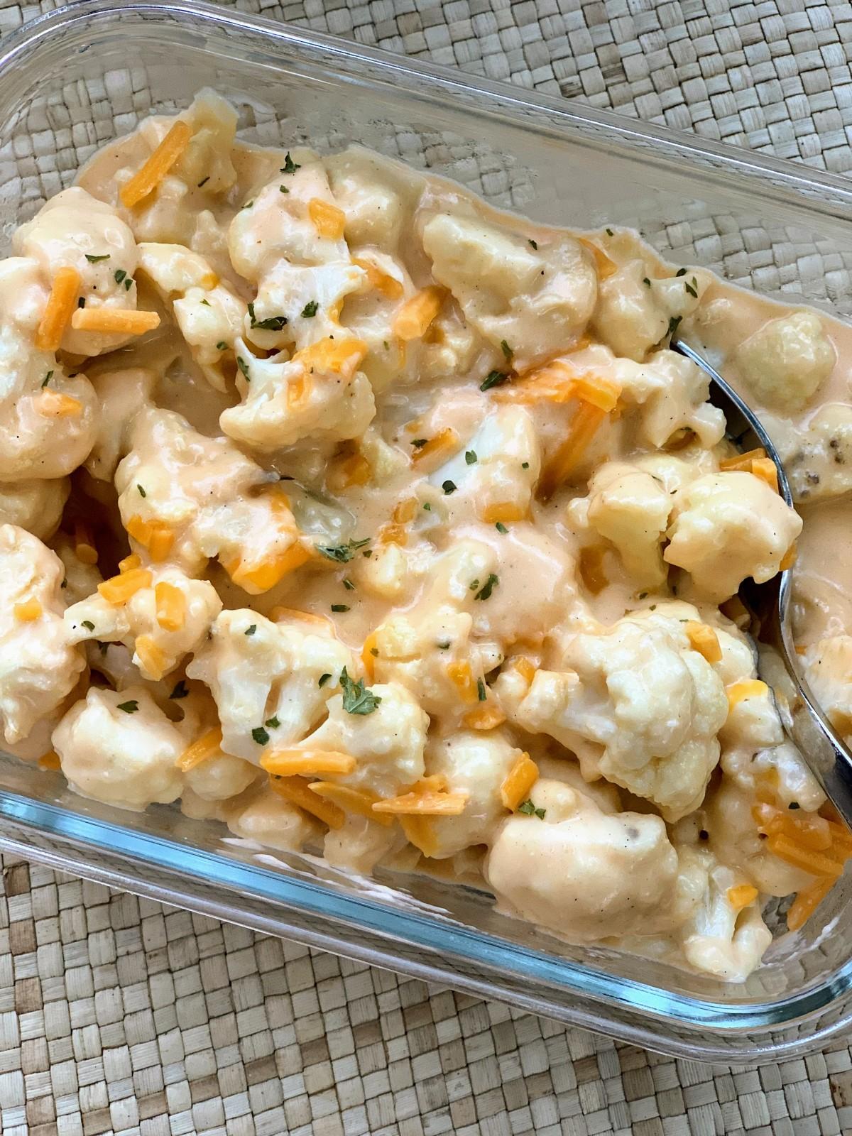 """Cauliflower """"Mac"""" &Cheese"""